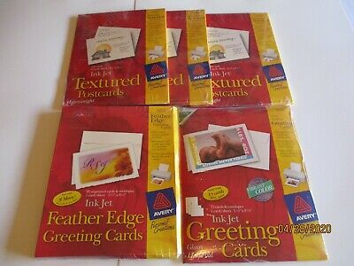 5 Packs Avery Textured Post Cards3380greeting Cards3269feather Edge Card