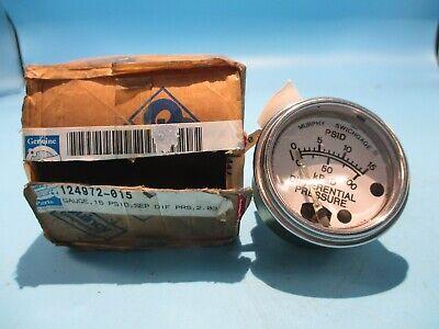 New Quincy Murphy 124972-015 Gauge 0-15 Psid 05-09-0056 No Extra Parts
