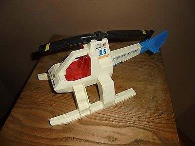 Vintage 1974 Fisher Price  305 Helicopter Chopper