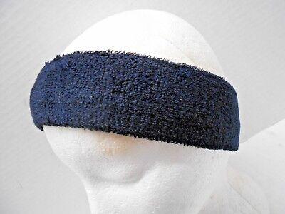 Unisex Navy Blue Terry Cloth Sweatband Headband Sports Running Exercise (Blue Terry Cloth Headband)