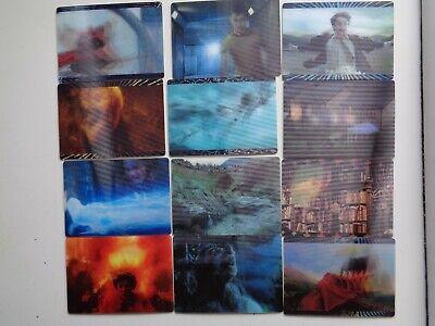 Harry Potter & The Deathly Hallows Part 1 Panini 12 3D Card Chase Set x1 to (Harry Potter Deathly Hallows Part 1 3d)