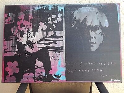 "Gail Rodgers', ""Andy Warhol"" one of a kind, COA'd, hand pulled silkscreen."