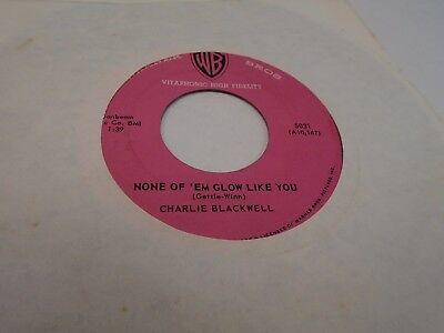 Charlie Blackwell Midnight Oil/None of Em Glow 45 RPM Warner Bros Records EX