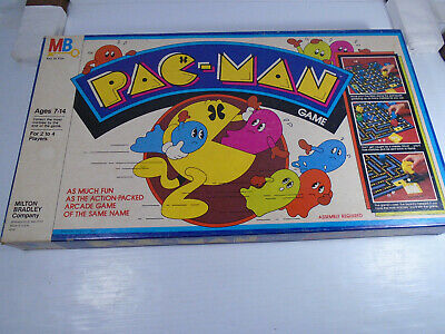 Vintage 1982 Pac-Man Board Game Complete Blue Ghosts