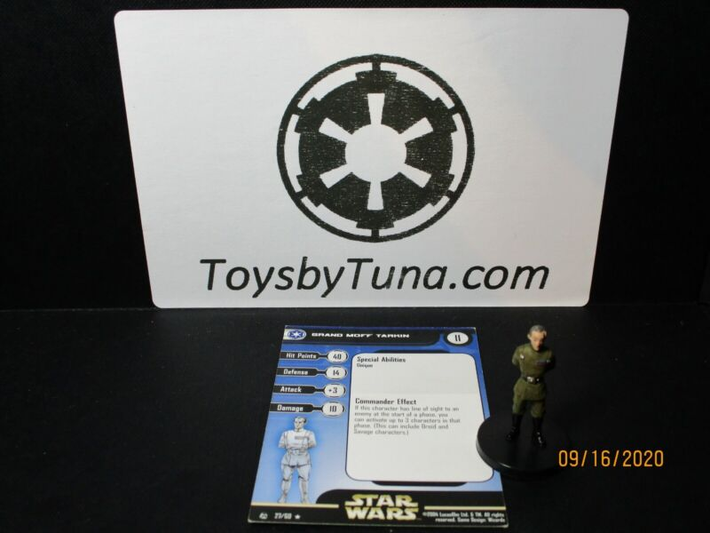 Star Wars Miniatures Grand Moff Tarkin Rebel Storm w/ Card mini RPG Legion