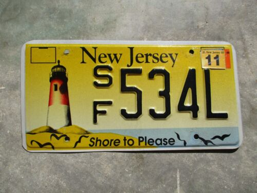New Jersey 2003 Light House  license plate  #  534 L