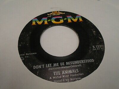 The Animals Don't Let me Be Misunderstood / Club A Gogo 45 RPM MGM Records