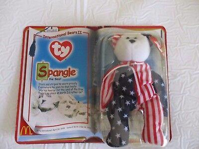 Mini Beanie Baby (Ty Beanie Baby MINI Spangle  INTERNATIONAL BEARS 2 ONE OF 4   FREE SHIPPING   )