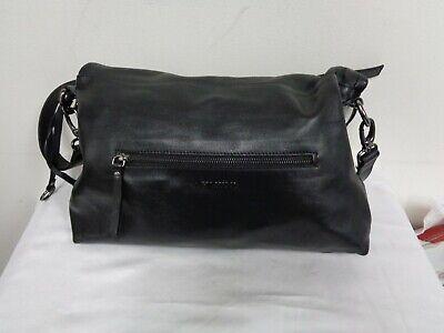 A. Bellucci Black leather studded satchel purse handbag cross body strap