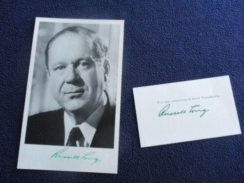 Russell Long (Senator of Louisiana) Signed Photo & card