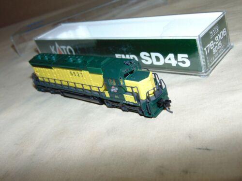 KATO N GAUGE 176-3106 CHICAGO NORTHWESTERN SD45 DIESEL IN ORIGINAL BOX...