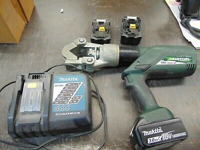 Greenlee Gator Ek12idl 12 Ton Dieless Hydraulic Battery Operated Crimping Tool