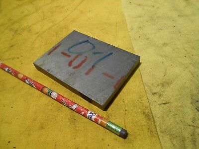 """O-1 TOOL STEEL BAR STOCK mold die shop flat plate O1  3/8"""" x 3"""" x 4 1/8"""", used for sale  Shipping to Canada"""