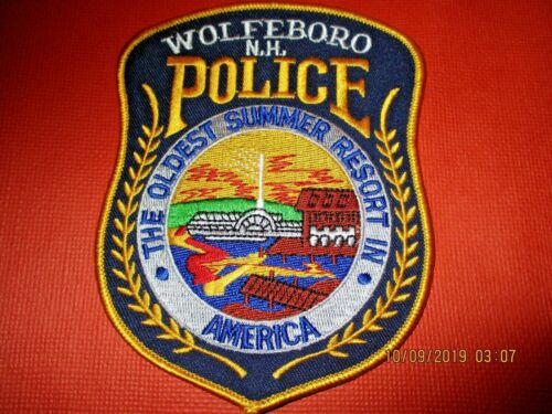 Collectible New Hampshire Police Patch,Wolfboro,New