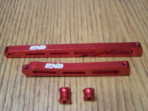 Arrma Kraton EXB 6s Front &Rear Center Chassis Braces Spacers Red Aluminum Brace