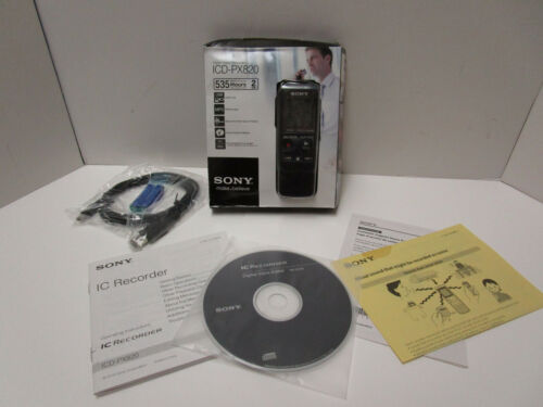 SONY ICD-PX820 HANDHELD PORTABLE DIGITAL VOICE RECORDER     NEW