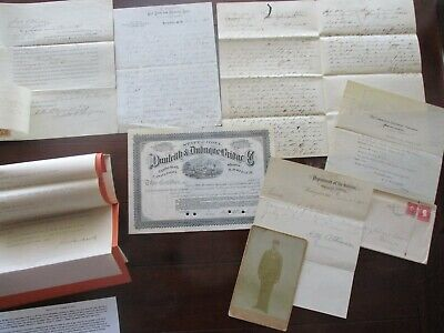 1845-1908 (9) Civil War General,Photo,documents,letters,(some have signed) lot!