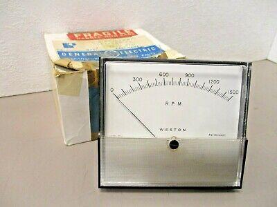 Weston Model 2041 Tachometer Panel Meter 41b514624p1 Rpm 0-1500