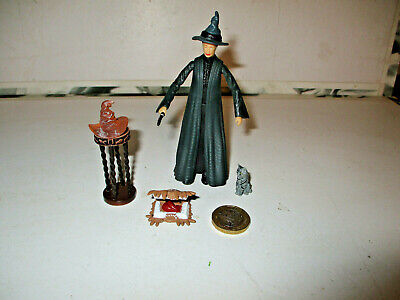 Harry Potter Rare Professor McGonagall With Wand, Hat,Cat - Harry Potter Professor Mcgonagall Hat