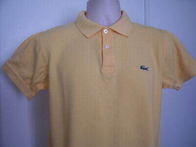 Lacoste France mens Shortsleeve Pique Polo Rugby Shirt Bright Yellow Sz 5 Small
