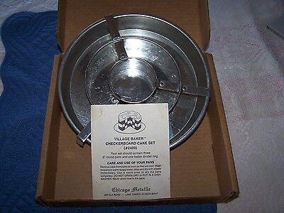 Chicago Metallic Village Baker CHECKERBOARD CAKE PAN SET #2400 instructions
