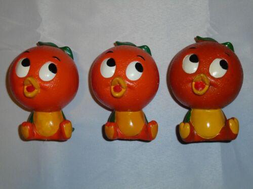 Set of 3 Vintage Florida Orange Bird RARE Disney Coin Banks 1970