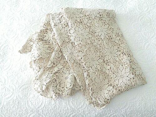 Beige Hand Crochet Tablecloth