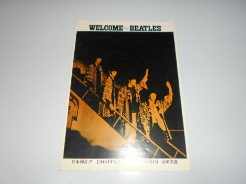 BEATLES in Japan 1966 FLYER THE BEATLES Japanese Tour An Original John Lennon A
