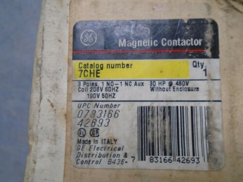 GE 7CHE Magnetic contactor