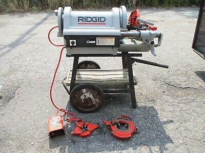 Ridgid 1224 12 - 4 120v Power Pipe Threader Threading Machine W Cart Used