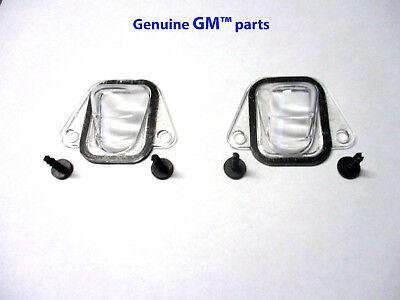 25778786 NEW OEM GM LIFT-GATE APPLIQUE LICENSE PLATE LIGHT LAMP COVER LENSES