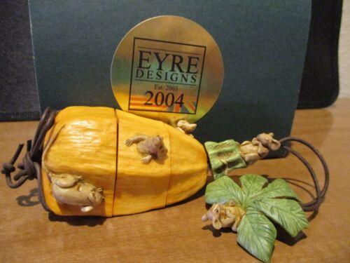 Harmony Kingdom Artist Neil Eyre Falls Fest Inro LE 5 Orange Mice SGN 3/5