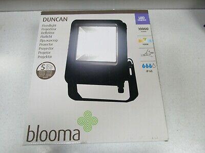 Blooma Duncan 100, Powder coated Black Mains Floodlight, 100W LED