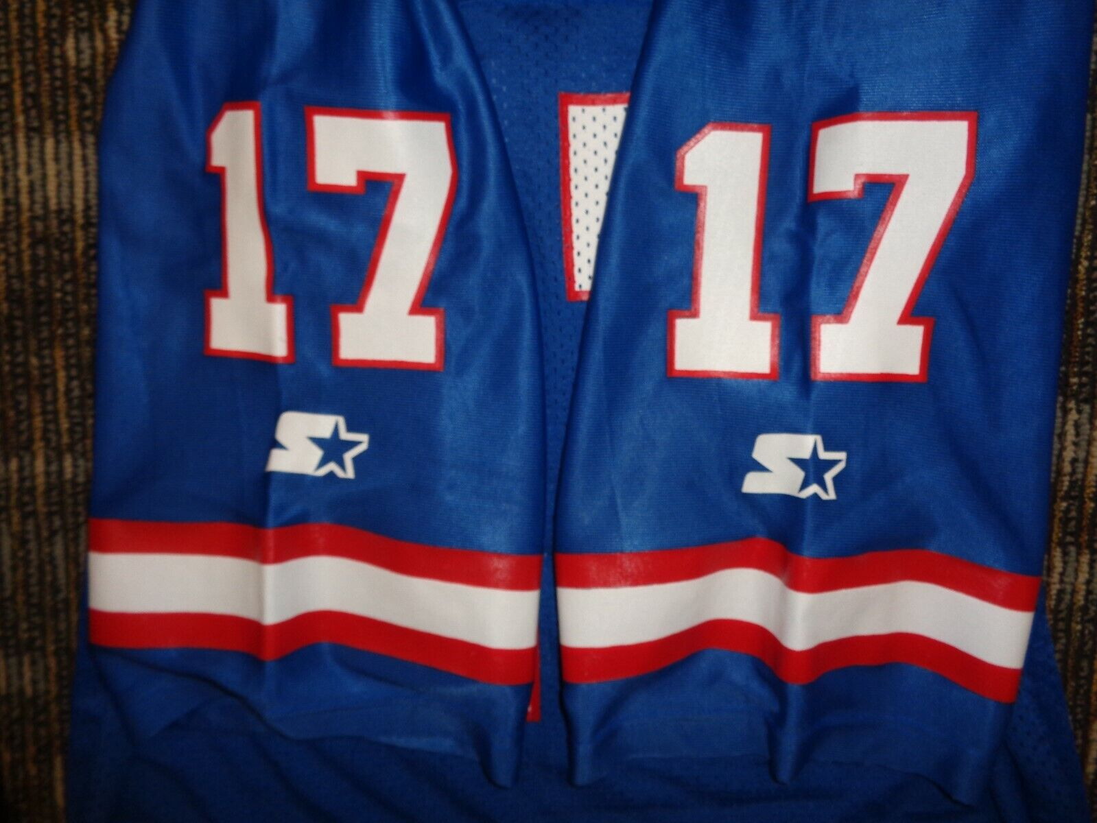 PRISTINE DAVE BROWN 17 NY NEW YORK GIANTS STARTER MENS NFL GAME FOOTBALL JERSEY - $29.99