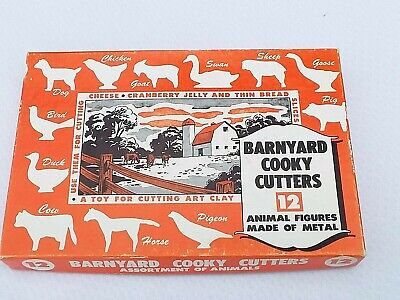 Vintage Barnyard 12 Piece Metal