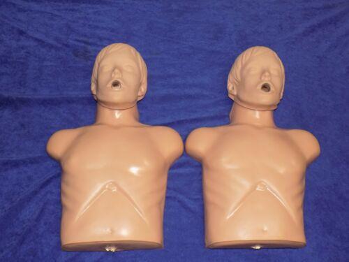 LOT OF 2 SIMULAIDS ECONOMY SANI-MAN ADULT TRAINING CPR MANIKIN TORSO NURSING EMT