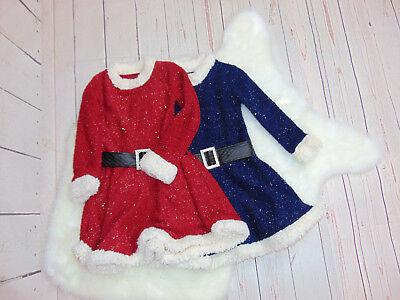 Mädchen Weihnachstskleid Nikolauskleid Glittzer Rot und Blau Gr. - Rote Und Blaue Kostüm