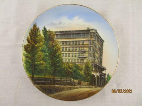 Basin Park Hotel Vintage Souvenir Plate Eureka Springs Arkansas
