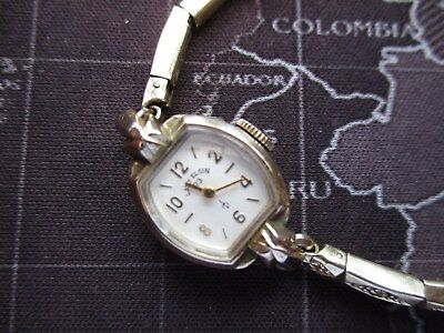 lady elgin, attractive ticking collectable watch,,,decent condition,