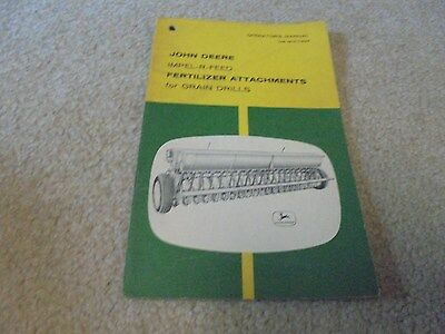 Vintage John Deere Impel-R-Feed Fertilizer Attachment Operator's Manual