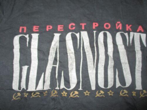 Vintage NEPECTPONKA - GLASNOST Soviet USSR (SM) T-Shirt RUSSIA