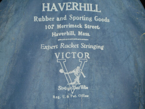 HAVERHILL SPORTING GOODS / VICTOR EXPERT RACQUET STRINGING ADVERTISING COVER