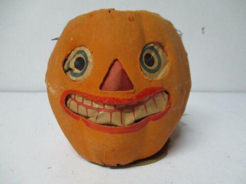 "4 3/4"" - Vintage Halloween Germany JOL Pumpkin Candle Lantern #4"