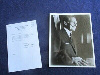 1975 Don Edwards (Congressman from California) Signed Photograph,letter!