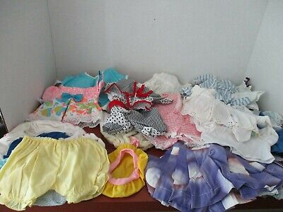 Vintage Lot of 24 DOLL CLOTHES~Mostly handmade