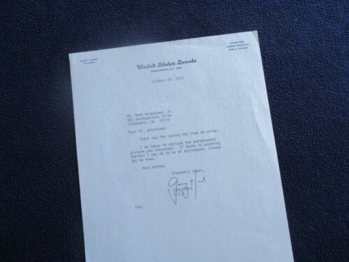 1975 Gary Hart (Senator of Colorado) Signed letter