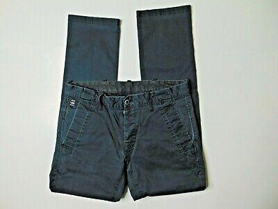 G-Star Raw Mens 32 x 30 Bronson Slim Chino Gray Khaki Pants Cotton Button Fly