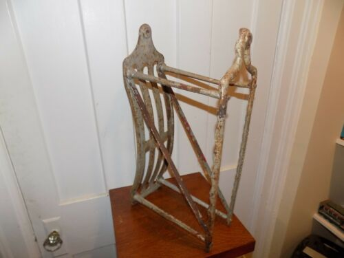 Vintage Cast Iron Wall Fire Hose Rack
