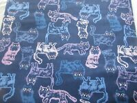 DOLL CLOTHES  BARBIE PAJAMAS SET BLUE FAT CAT PRINT
