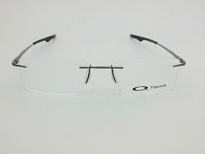 OAKLEY KEEL OX3122-0753 Pewter Rimless Titanium 53mm Rx Eyeglasses